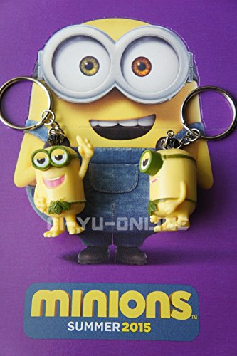 New-2-Pcs-Minions-Movie-Despicable-Me-Toy-Rubber-3D-KeyChain-Jurassico