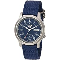 Seiko 5 Automatic SNK807K2 Canvas Strap Men's Watch (Blue)