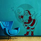 Santa With Lamp Wall Sticker Decal - B00VRRVJAK