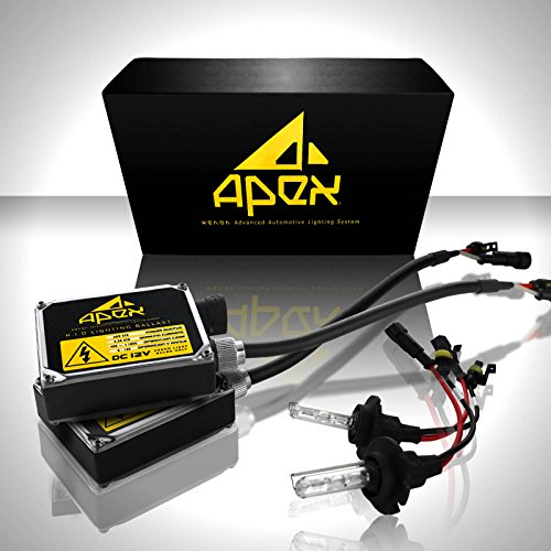 "Apex Hid Xenon Conversion Kit ""All Bulb Sizes And Colors"" With Premium Digital Ballasts (9006 / Hb4, 6K 6000K Diamond White Hid)"