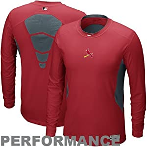 St. Louis Cardinals Nike Combat Adult X-Large XL Red Long Sleeve Performance Shirt by Nike