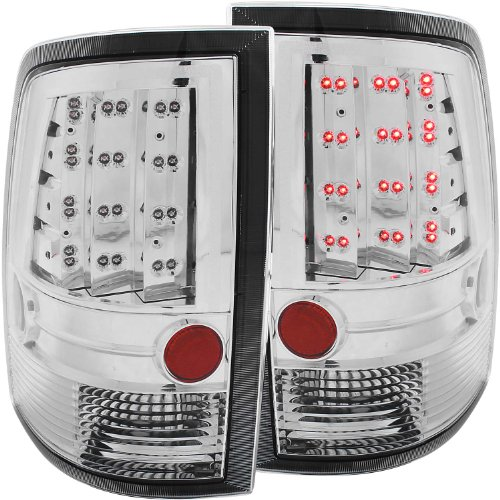 AnzoUSA 311146 Chrome LED Tail Light - (Sold in Pairs)