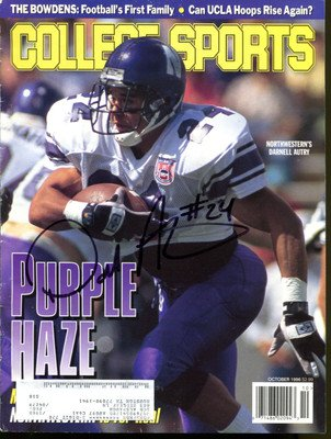 Darnell Autry Signed 1996 College Sports Magazine Northwestern Autographed