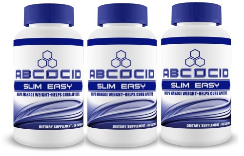 3 Bottles Abcocid Slim Easy With Raspberry Ketone, Green Tea Fucoxanthin, Vitamin B12