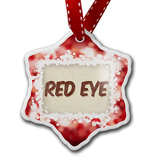 Christmas Ornament Red Eye Coffee, Vintage Style, Red - Neonblond