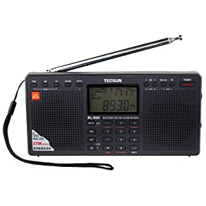 Tecsun PL390 DSP Digital AM/FM/LW Shortwave Radio with Dual Speakers, Black