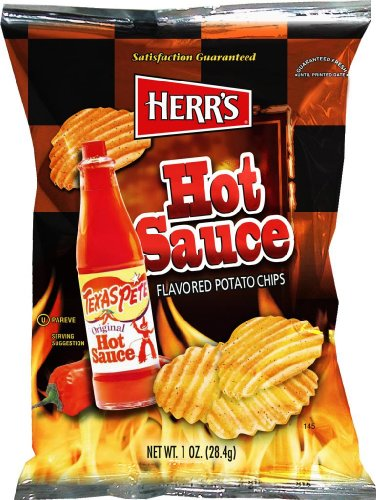 Herr's - Texas Pete Hot Sauce Potato Chips, Pack of 42 bags (Texas Sauce Pack compare prices)