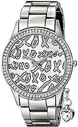 XOXO Women's XO5144 Silver-Tone Bracelet With Heart Charm Watch