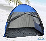 Pop-up Family Beach Tent and Sun Shelter UPF 100+ BlueColor