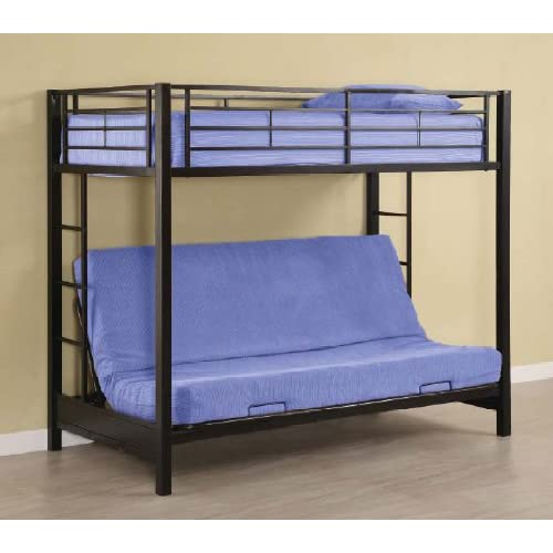 walker edison attractive sunset metal twin futon bunk bed