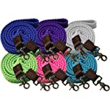 Showman 7.5' Braided Cotton Roping Reins with Scissor Snaps on Ends Color Choice Soft and Durable