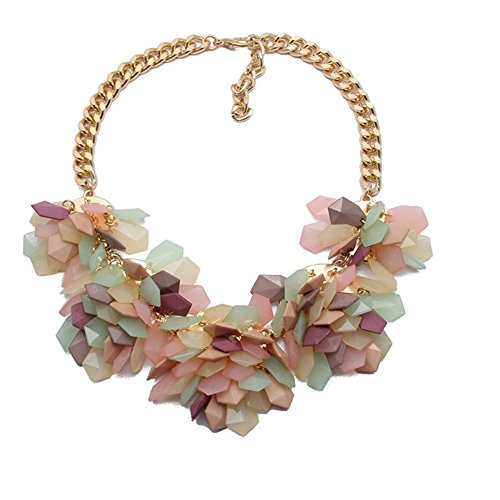 twopages-hawaii-colorful-flower-multi-color-necklace-geometric-jewelry-for-women