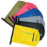 DrySak Premium Waterproof Dry Bag with Exterior Zip Pocket | Keeps Gear Safe & Dry During Watersports & Outdoor Activities | Rugged 500D PVC with Shoulder Strap & Reflective Trim | 10L & 20L Sizes by Sak Gear