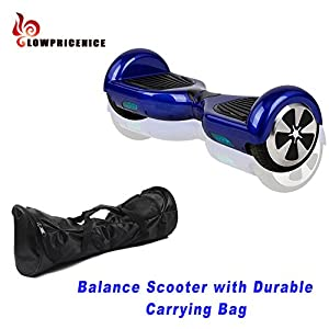 EROVER Two Wheels Smart Self Balancing Scooters Electric Drifting Board Personal Adult Transporter with LED Light (Blue 0)
