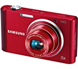 Samsung ST77 Compact Digital Camera - Red (16.1MP, 5x Optical Zoom) 2.7 inch LCD