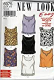 New Look Simplicity Sewing Pattern 6975 Misses' Misses Easy Tank Tops ; Sizes 6-16