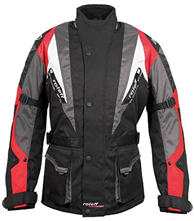 Roleff Racewear 5954 Kodra Veste Kapstadt RO 595, Noir/Rouge/Gris/Blanc, L