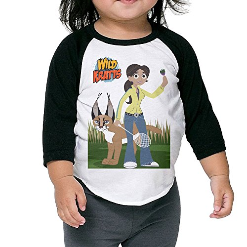 toddler-funny-aviva-and-caracal-wild-kratts-100-cotton-3-4-sleeve-athletic-baseball-raglan-t-shirt-b