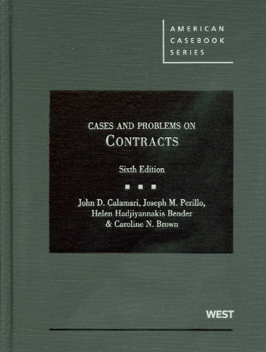 Cases and Problems on Contracts, 6th Edition (English and...