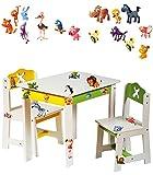3-tlg-Set-Sitzgruppe-fr-Kinder-aus-sehr-stabilen-Holz-wei-lustige-Zootiere-Tisch-2-Sthle-Kindermbel-fr-Jungen-Mdchen-Kindertisch-Kinderstuhl-Kinderzimmer-fr-circa-1-3-Jahre-Kindersitzgruppe-Tischgrupp