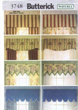 Butterick 3748 Sewing Pattern Waverly Drapes Valances Window Treatments