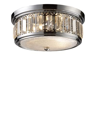 Artistic Lighting Flush Mount 2-Light, Polished Chrome