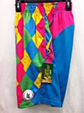 Shorts Performance Neon Argyle Hot Pink Neon Blue Yellow Green Size Youth Medium