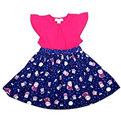 Apricot Kids Blue Frock For Girls -5-6 Years