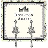 The Downton Abbey Collection Silver Starburst Tassel Drop Earrings 17591