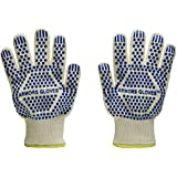 Armors Gloves (Set of 2) - Oven Glove Withstand Heat up to 662f - Outdoor and Kitchen Comfortable Top Class BBQ Glove - Grill Gloves for Left or Right Hand (Blue)