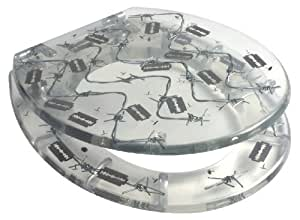 Barbed Wire Resin Toilet Seat Home Kitchen