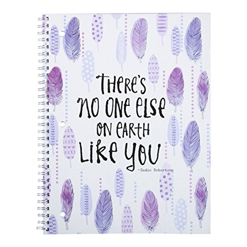 dayspring-sadie-robertsons-spiral-bound-notebook-theres-no-one-else-on-earth-like-you-76284