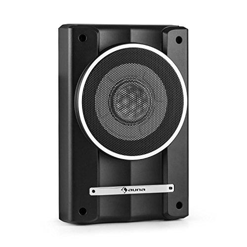 auna-Silverseat-8-Bassbox-Auto-Subwoofer-flache-Basskiste20cm-8-Tieftner-200-Watt-Untersitz-mit-Fernbedienung-schwarz