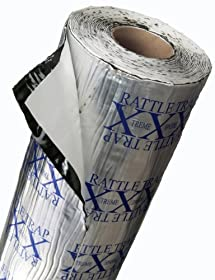 FatMat 100 Sq Ft x 80 mil Thick Self-Adhesive RattleTrap Sound Deadener Bulk Pack w/Install Kit