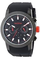 red line Men's RL-10017-BB-01 Gauge Analog Display Japanese Quartz Black Watch