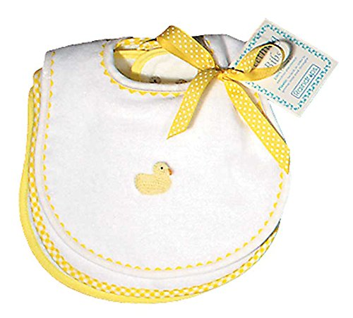 Raindrops Primary Teething Bib Set, White/Navy