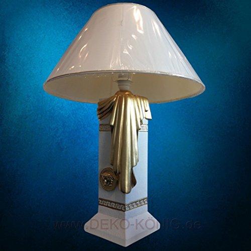 Medusa Mäander Lampe Stehlampe Vasenlampe Stehleuchte Crem-Gold