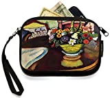 UKBK August Macke Art Still Life with Venison and Ostrich Pillow Neoprene Clutch Wristlet with Safety Closure - Ideal case for Camera, Universal Cell Phone Case etc..