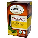 Organic Black Tea With Lemon, 20 Tea Bags, 1.27 oz (36 g)