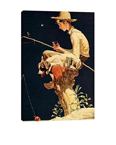 Norman Rockwell Boy Fishing Giclée Print