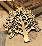 Changeshopping Retro Bird Cute Popular Christmas Tree Pendant Sweater Chain Necklace