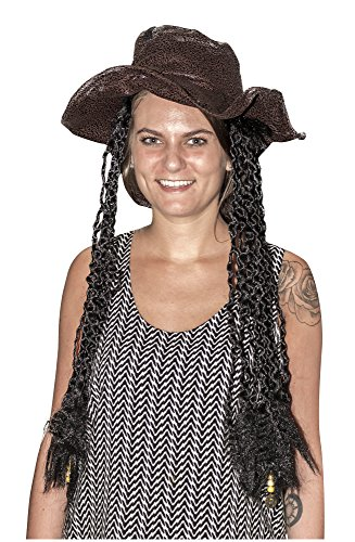 Rubie's Costume Co Pirate Hat with Braids Costume