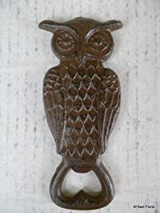Cast Iron Owl Bottle Opener ~ Brown by MGS