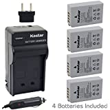[Fully Decoded] Kastar EN-EL24 Battery (4-Pack) And Charger Kit For Nikon EN-EL24 ENEL24 Rechargeable Li-ion Battery...