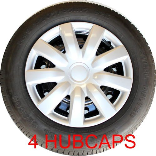 set of four replica 2004 2006 15 inch toyota camry silver hubcaps wheel covers vehicles. Black Bedroom Furniture Sets. Home Design Ideas
