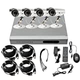 Ouku 4CH Home Security DVR CCTV Surveillance Camera System With 4 Outdoor Night Vision IR Surveillance Cameras No Hard Drive