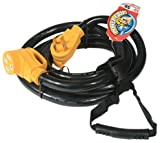 Camco 55195 50 AMP 30 Extension Cord with PowerGrip Handle