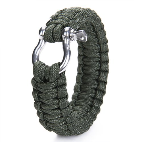 Paracord 550 Survival Bracelet  Stainless Steel
