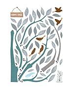 Ambiance Sticker Vinilo Decorativo Happy Tree And Birds