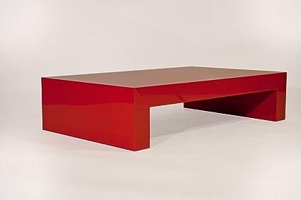 Mesa de centro rojo brillante mod First H21